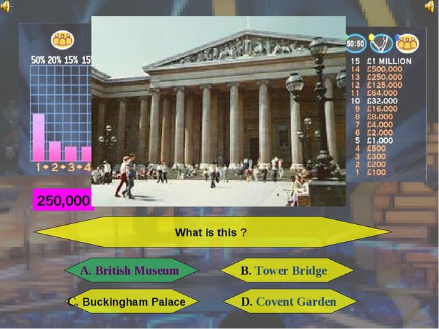What is this ? A. British Museum B. Tower Bridge C. Buckingham Palace D. Cove...