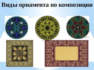 Виды орнамента по композиции