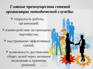 открытость работы организаций; взаимодействие на принципах партнёрства; выстр