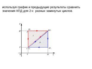 используя график и предыдущие результаты сравнить значения КПД для 2-х разны