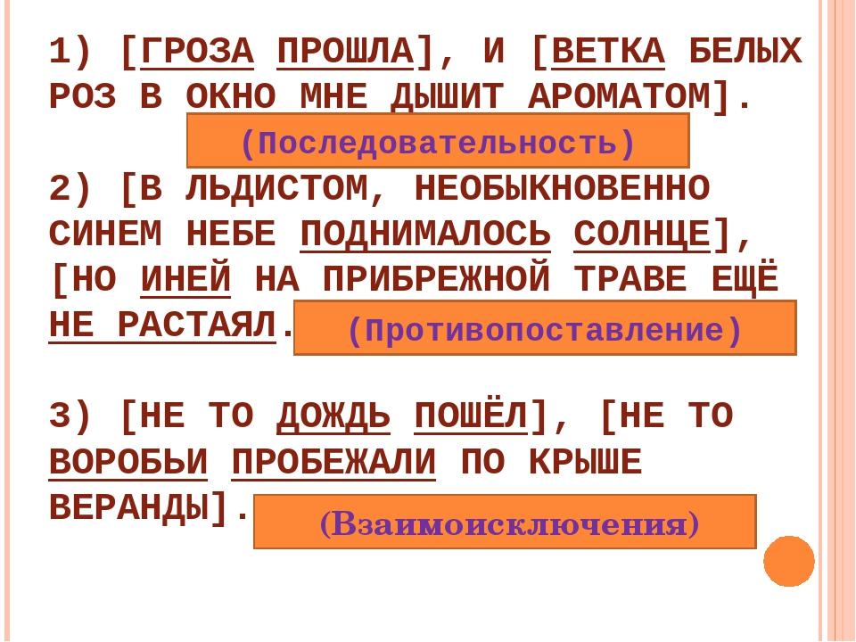 1) [ГРОЗА ПРОШЛА], И [ВЕТКА БЕЛЫХ РОЗ В ОКНО МНЕ ДЫШИТ АРОМАТОМ]. 2) [В ЛЬДИС...