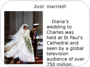 Just married! Diana's wedding to Charles was held at St Paul's Cathedral and