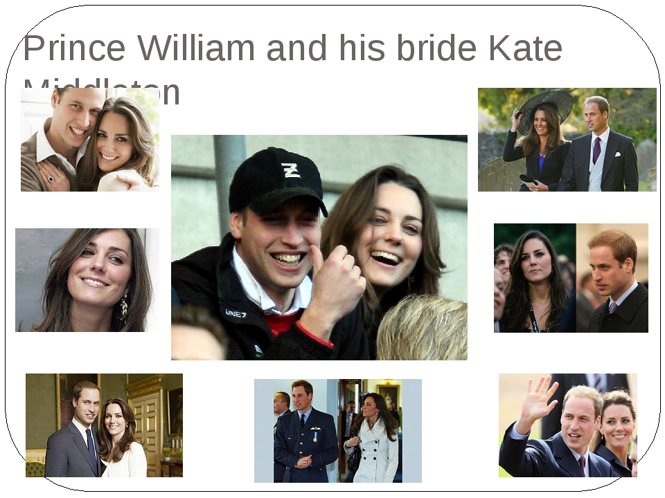 Prince William and his bride Kate Middleton