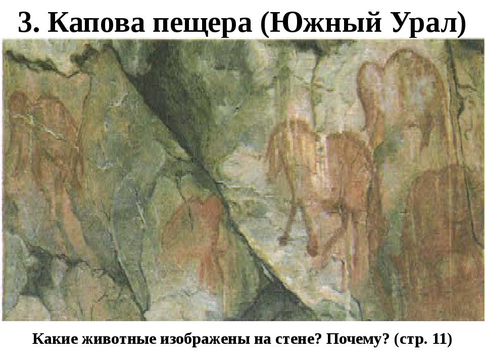 3. Капова пещера (Южный Урал) Какие животные изображены на стене? Почему? (ст...