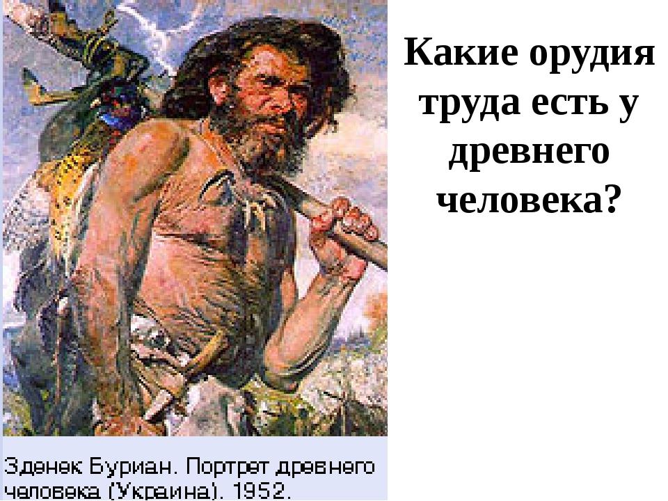 Какие орудия труда есть у древнего человека?