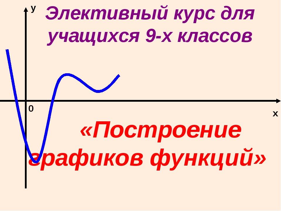 Элективный курс для учащихся 9-х классов «Построение графиков функций» x у 0