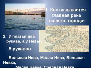 1. Как называется главная река нашего города? Большая Нева, Малая Нева, Больш