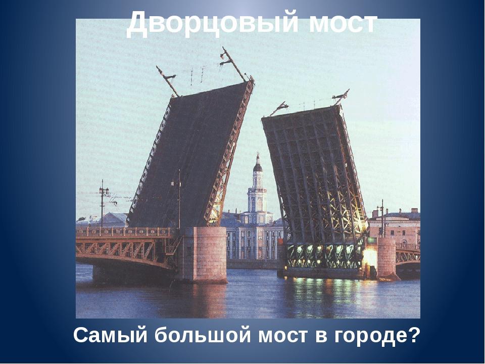 Дворцовый мост Самый большой мост в городе?