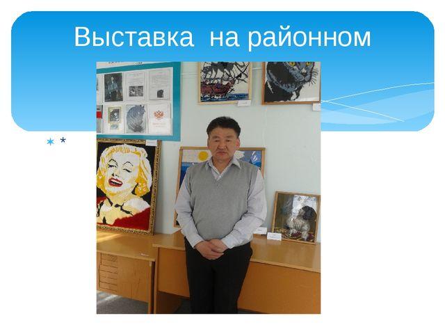 * Выставка на районном уровне