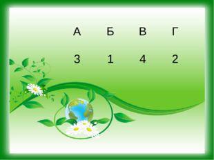 А Б В Г 3 1 4 2