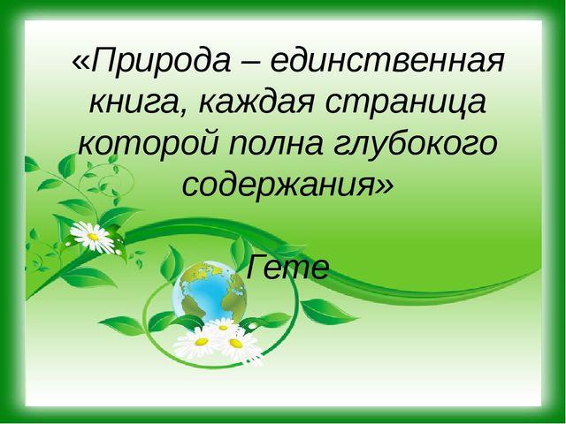 «Природа – единственная книга, каждая страница которой полна глубокого содерж...
