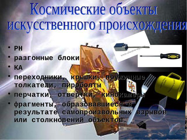 РН разгонные блоки КА переходники, крышки, пружинные толкатели, пироболты пе...