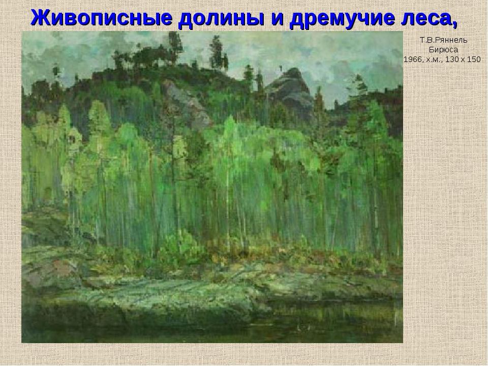 Живописные долины и дремучие леса, Т.В.Ряннель Бирюса 1966, х.м., 130 х 150