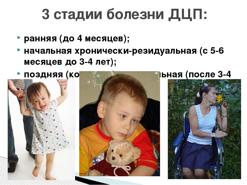 ранняя (до 4 месяцев); начальная хронически-резидуальная (с 5-6 месяцев до 3-...