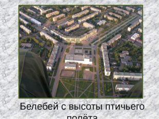 Белебей с высоты птичьего полёта Центральный Дворец Культуры