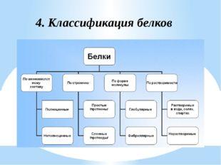 4. Классификация белков