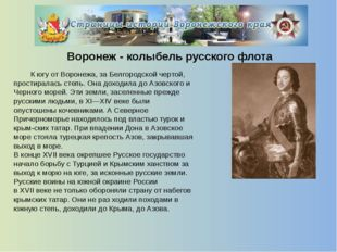 Воронеж современный  В черту города вошли близлежащие поселки: Боровое, Под