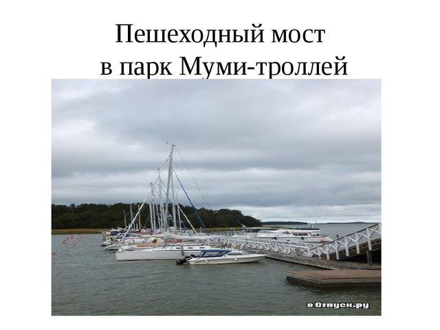 Пешеходный мост в парк Муми-троллей
