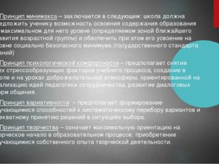 4) Принцип минимакса– заключается в следующем: школа должна предложить учени