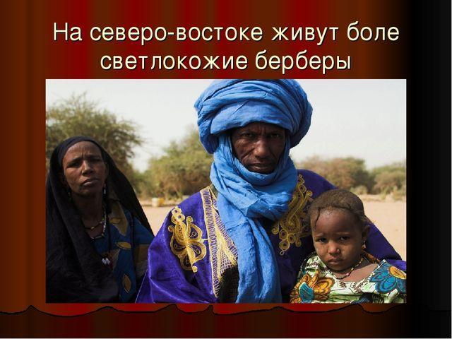 На северо-востоке живут боле светлокожие берберы