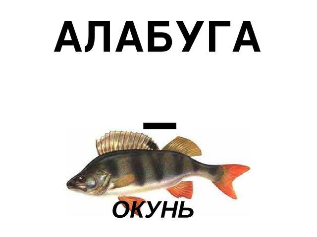 = АЛАБУГА ОКУНЬ