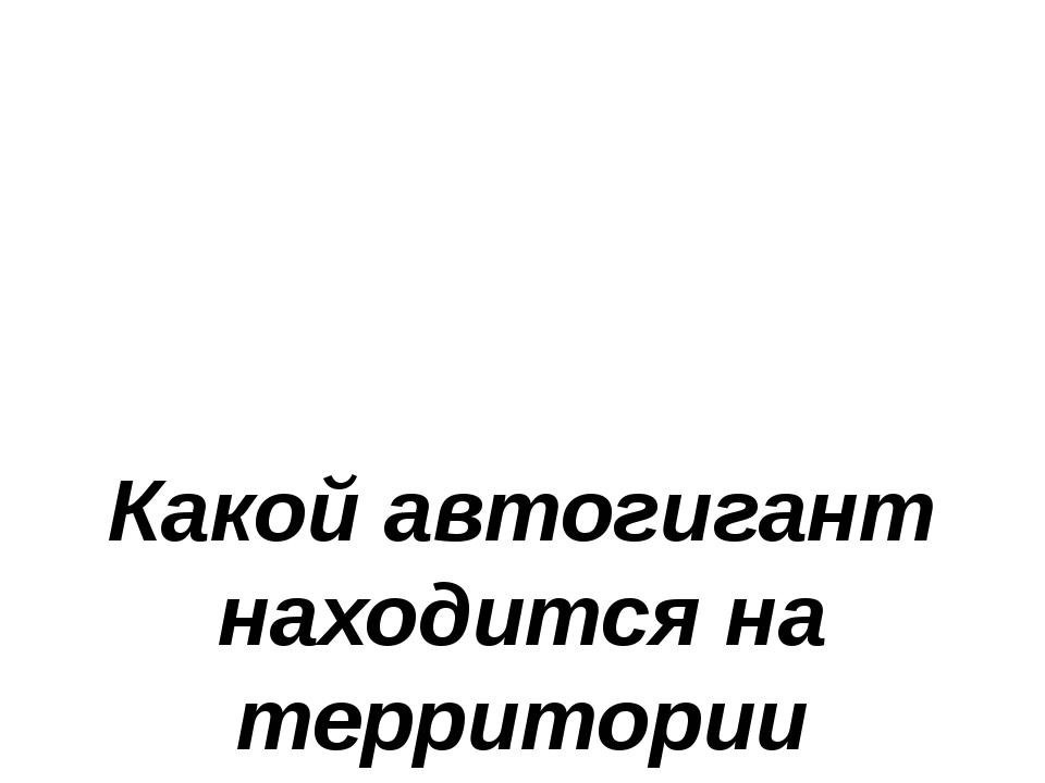 Какой автогигант находится на территории Татарстана?