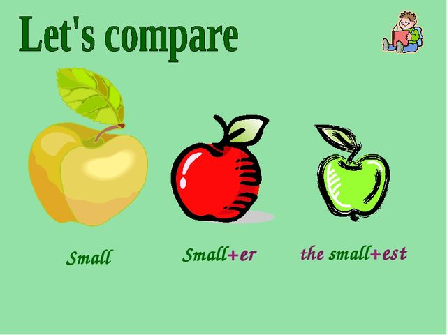 Small Small+er the small+est .