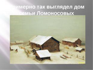 Примерно так выглядел дом семьи Ломоносовых