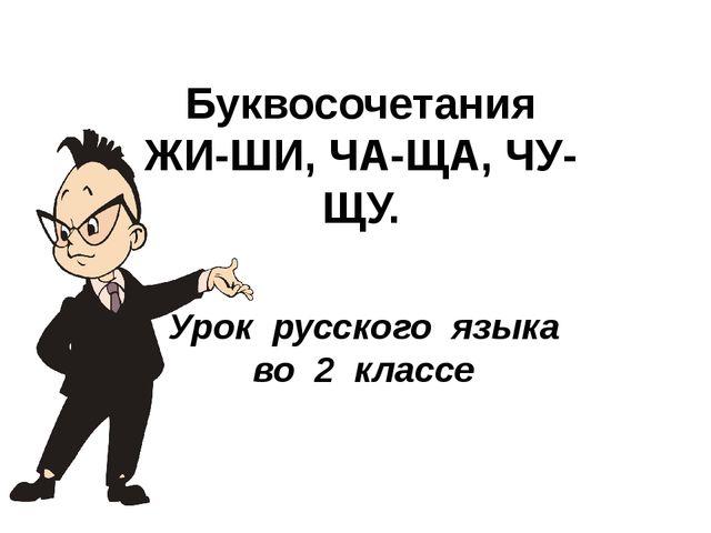 Урок русского языка во 2 классе Буквосочетания ЖИ-ШИ, ЧА-ЩА, ЧУ-ЩУ.