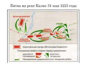 Битва на реке Калке 31 мая 1223 года