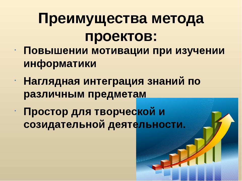 Преимущества метода проектов: Повышении мотивации при изучении информатики На...