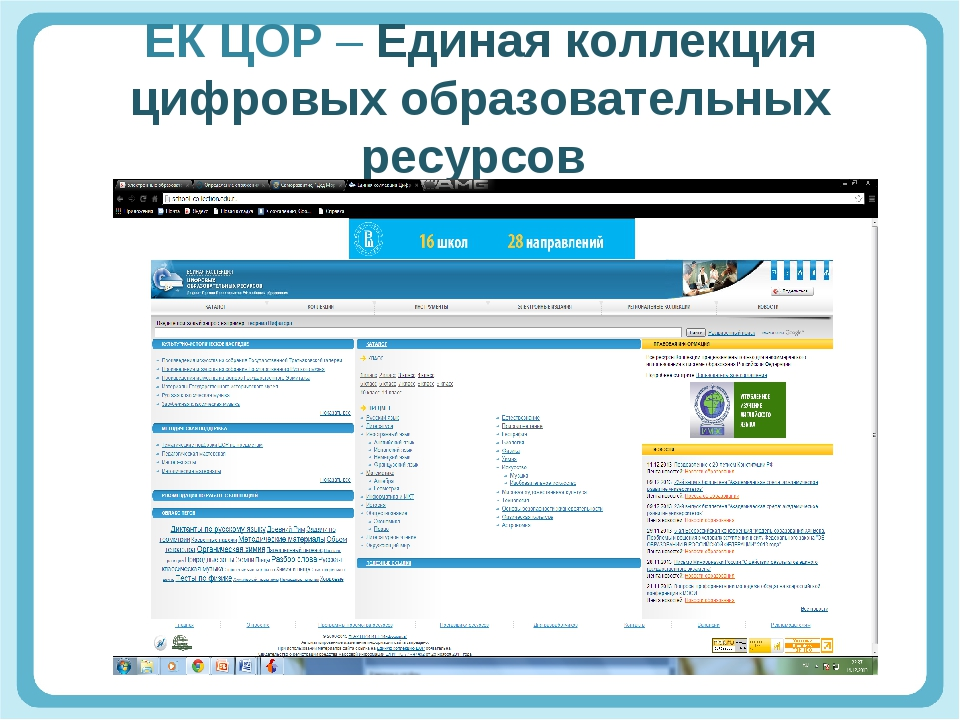 ЕК ЦОР – Единая коллекция цифровых образовательных ресурсов