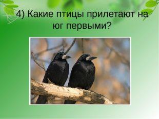 4) Какие птицы прилетают на юг первыми?