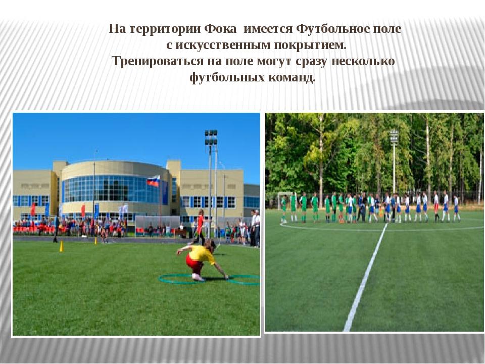На территории Фока имеется Футбольное поле с искусственным покрытием. Трениро...
