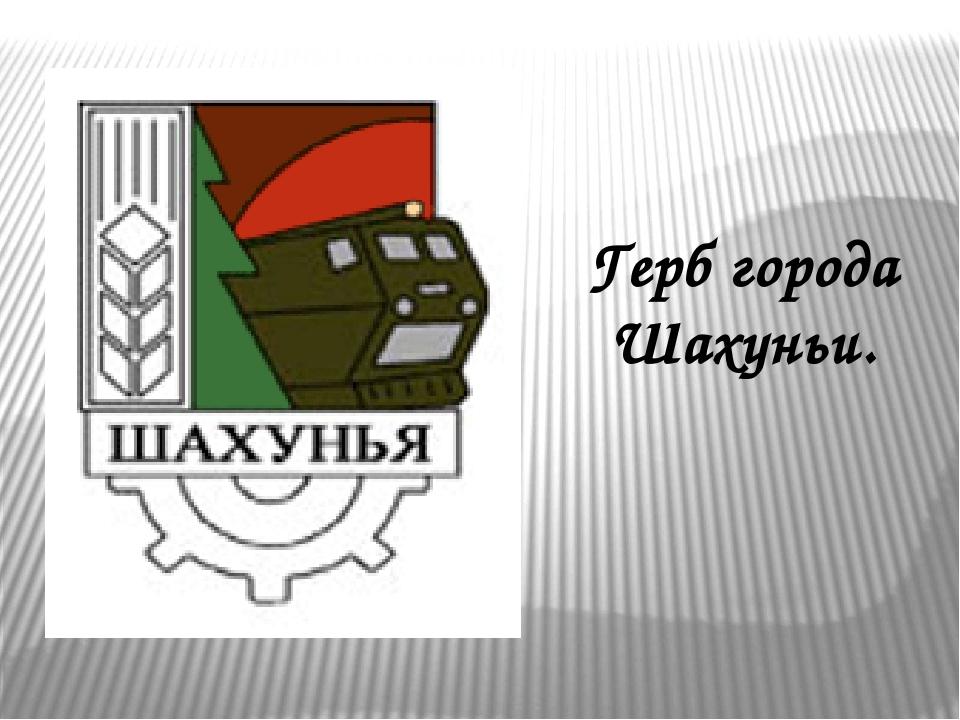 Герб города Шахуньи.