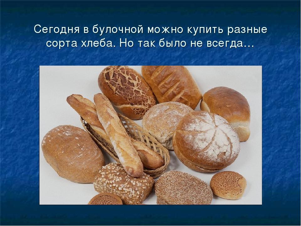 Сегодня в булочной можно купить разные сорта хлеба. Но так было не всегда…