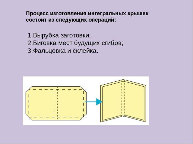 Процесс изготовления интегральных крышек состоит из следующих операций: 1.Выр...