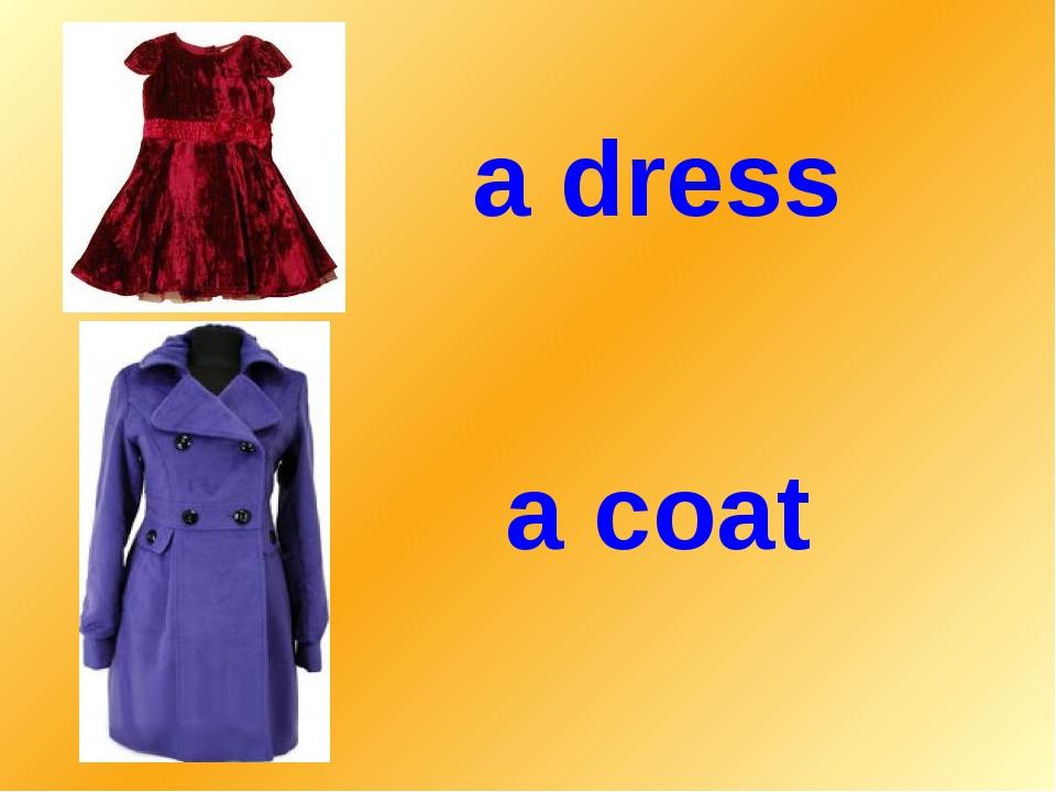 a dress a coat