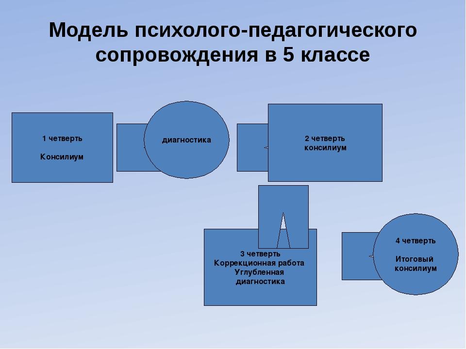 Модель психолого-педагогического сопровождения в 5 классе 3 четверть Коррекци...