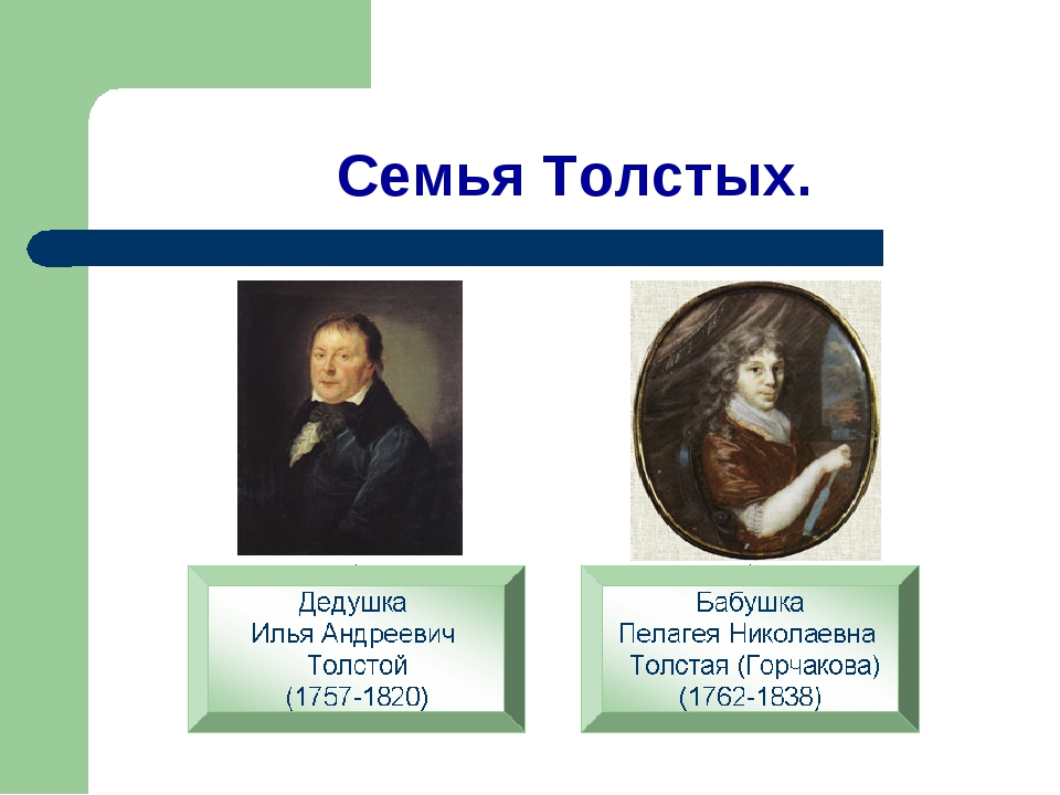 Семья Толстых.