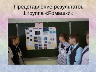 Представление результатов 1 группа «Ромашки»