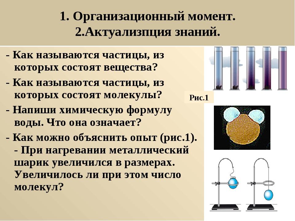 1. Организационный момент. 2.Актуализпция знаний. - Как называются частицы,...