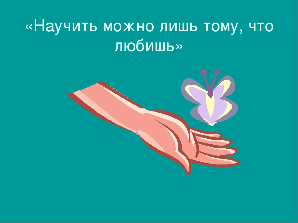 «Научить можно лишь тому, что любишь»