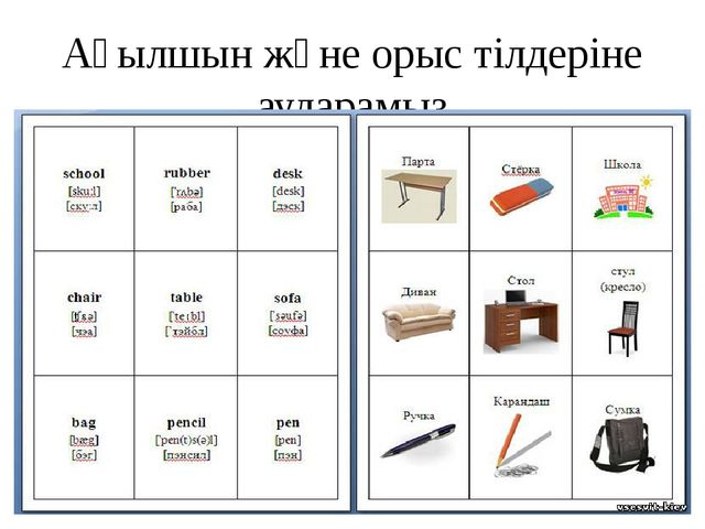 Ағылшын және орыс тілдеріне аударамыз