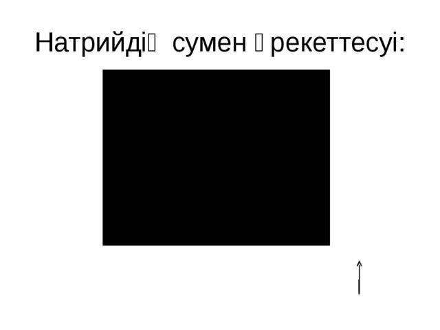 Натрийдің сумен әрекеттесуі: 2Na+2H2O=2NaOH+H2