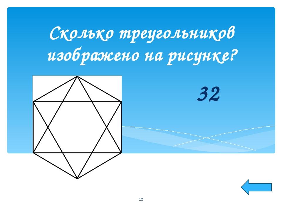 32 Сколько треугольников изображено на рисунке? *