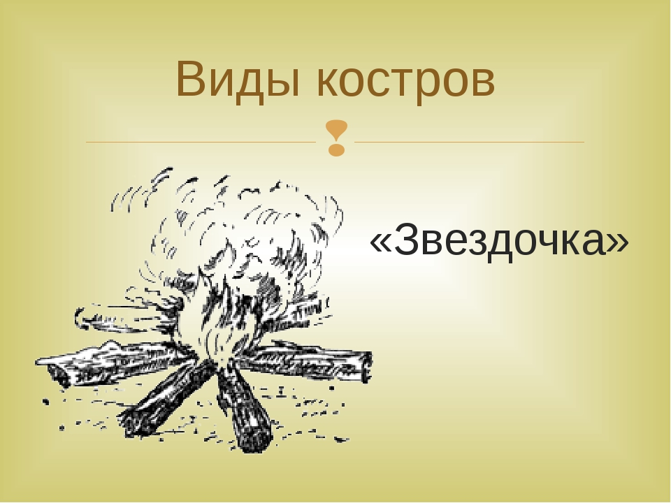 «Звездочка» Виды костров 