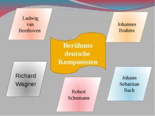 Berühmte deutsche Komponisten Ludwig van Beethoven Johannes Brahms Richard Wa