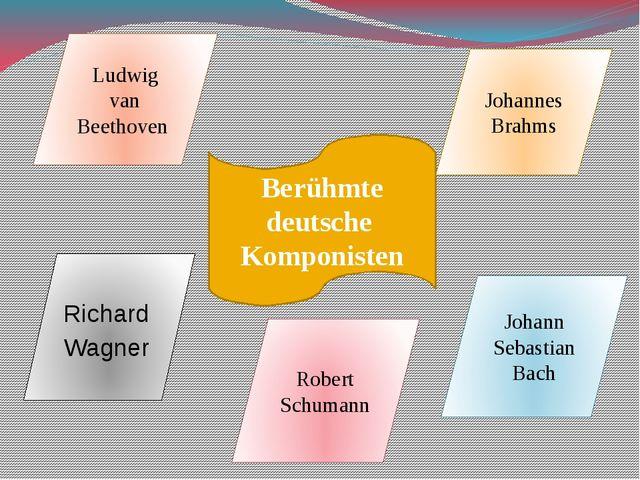 Berühmte deutsche Komponisten Ludwig van Beethoven Johannes Brahms Richard Wa...