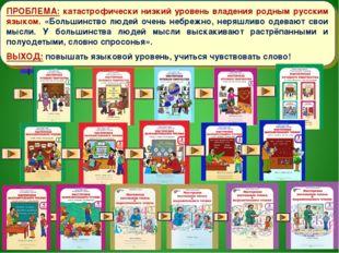ПРОБЛЕМА: катастрофически низкий уровень владения родным русским языком. «Бол